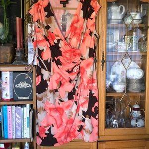 Fabulous floral career sleeveless summer dress